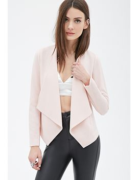 crepe-shawl-collar-blazer by forever-21
