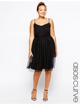 asos-curve-exclusive-skater-dress-with-tutu-skirt by asos
