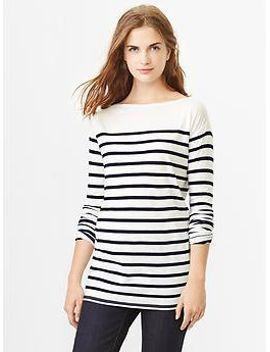 stripe-luxe-boatneck-tee by gap