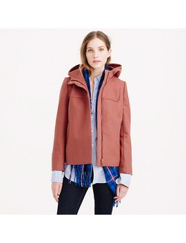 wool-melton-hooded-bib-jacket by jcrew