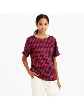 collection-silk-stripe-blouse by jcrew