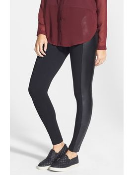 faux-leather-panel-leggings by bp