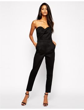 asos-jumpsuit-with-pleated-bust-front by asos-collection