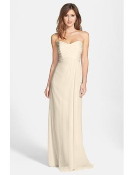 strapless-crinkle-chiffon-gown by amsale
