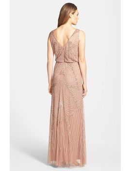 beaded-mesh-blouson-gown by aidan-mattox