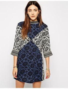native-rose-shift-dress-in-patchwork-print by native-rose