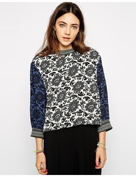 native-rose-high-neck-top-in-print by native-rose