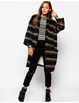 native-rose-blanket-coat-in-stripe by native-rose