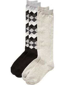 womens-patterned-boot-sock-2-packs by old-navy