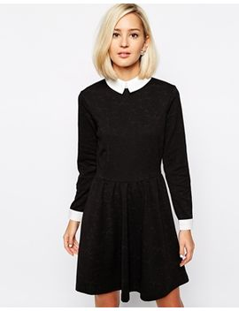 river-island-jacquard-collared-dress by river-island