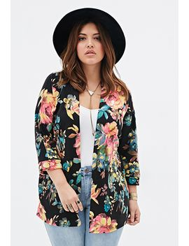 floral-patterned-knit-cardigan by forever-21
