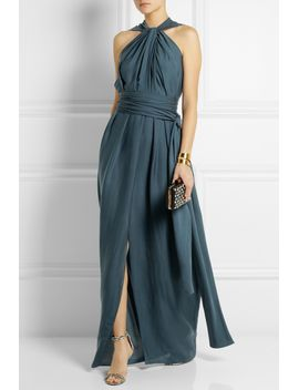 gathered-jersey-crepe-gown by lanvin