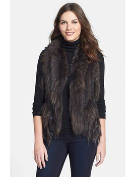 genuine-rabbit-&-raccoon-fur-vest by linda-richards