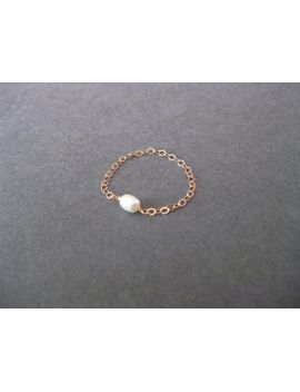 freshwater-pearl-chain-ring----sterling-silver,-14k-gold-filled,-14k-rose-gold-filled by robyndesigned