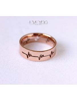 heartbeat-ring,heart-beat-ring,gold-ring by eveyoo