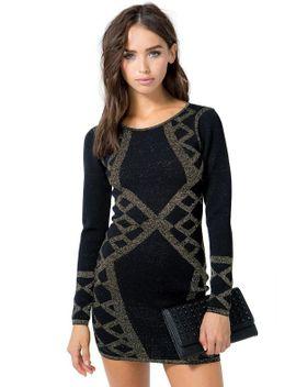 lurex-mirror-deco-dress by agaci