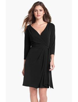 jersey-faux-wrap-dress by ivy-&-blu