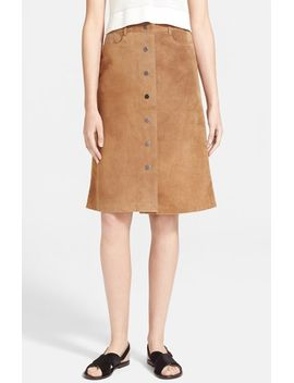 pemma-suede-midi-skirt by theory