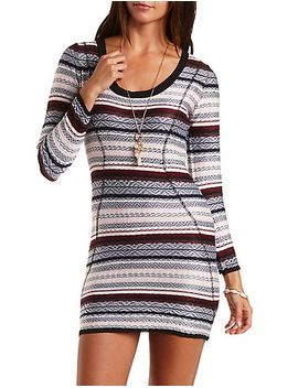 velvet-tribal-print-cut-out-dress by charlotte-russe