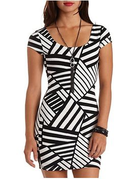 abstract-striped-bodycon-dress by charlotte-russe