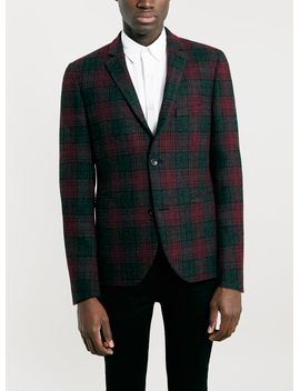 harris-tweed-multi-colour-skinny-fit-blazer by topman