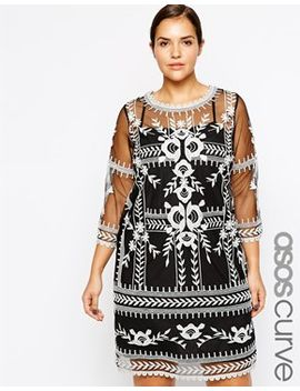 asos-curve-premium-embroidered-dress by asos-curve