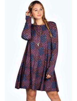 kyla-paisley-print-swing-dress by boohoo