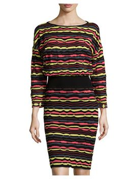 ripple-knit-dress,-yellow_multi by m-missoni