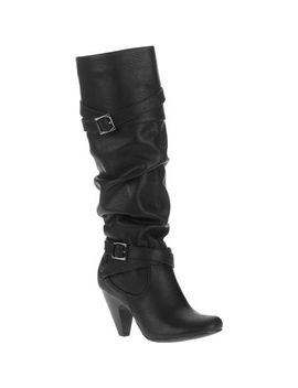 mo-mo-womens-naomie-knee-high-slouch-boot-with-heel by walmart