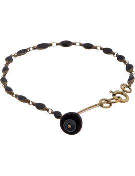 brass-&-black-baker-street-pendant-bracelet by isabel-marant