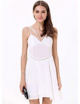 white-spaghetti-strap-backless-skater-dress by sheinside