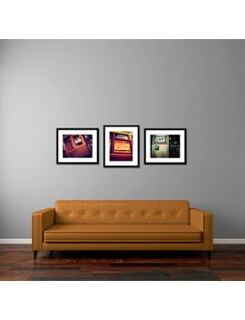vintage-train-photography,-art-print-set,-chicago-cta-photographs---burnt-orange,-forest-green,-golden-tones,-boys-room-decor,-playroom-wall by traceycapone