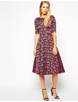 closet-skater-dress-in-tapestry-floral-embroidery by closet