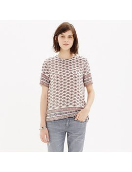 silk-refined-tee-in-diamond-floral by madewell