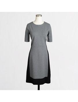 factory-petite-colorblock-ponte-dress by jcrew