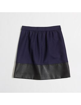 factory-leather-trim-skirt by jcrew
