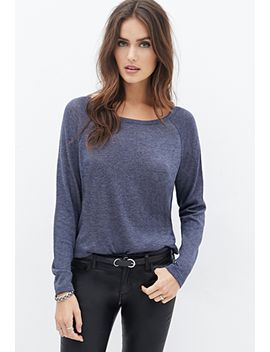 contemporary-heathered-raglan-sweater by forever-21