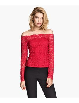 off-the-shoulder-lace-top by h&m