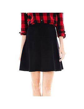 joe-fresh-flared-ponte-skirt by general