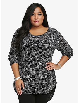 marled-open-stitch-tunic-sweater by torrid