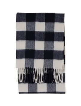 women--cashmere-scarf-(check) by uniqlo