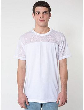 athletic-mesh-contrast-t-shirt by american-apparel