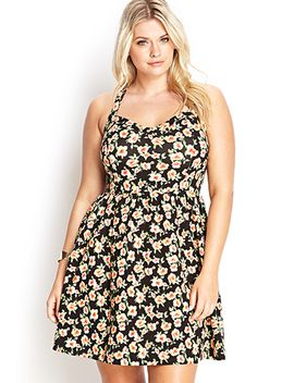 floral-print-fit-&-flare-dress by forever-21