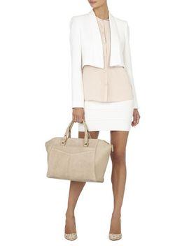 brooke-suede-leather-satchel by bcbgmaxazria