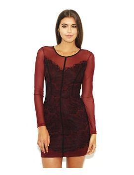 west-coast-wardrobe-joanie-l_s-dress-in-black_wine by wardrobe