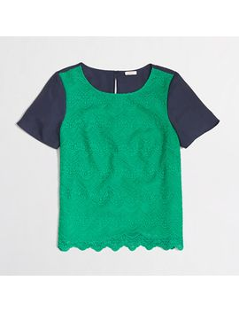 factory-lace-panel-tee by jcrew