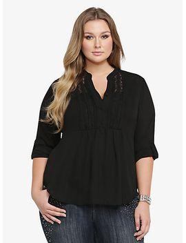 lace-trim-peplum-blouse by torrid
