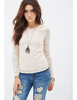 fitted-floral-lace-top by forever-21