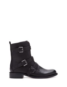 buckled-faux-leather-boots by forever-21