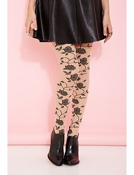 rose-patterned-tights by forever-21